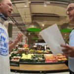 Драка русскоязычных покупателей с полицейскими в немецком супермаркете