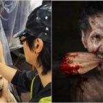 Жуткий макияж от японского художника
