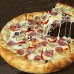 Пицца с сырным бортом
