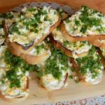 Остренькие праздничные бутерброды