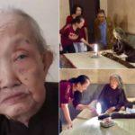 83-летняя бабушка 64 года не мыла и не стригла волосы