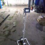 Телескопическая люстра для работ в салоне автомобиля.