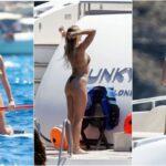 27-летняя английская певица Перри Эдвардс (Perrie Edwards) отдыхает с друзьями на яхте