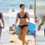 36-летняя американская актриса Джейми Александр (Jaimie Alexander) в бикини