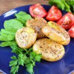 Мятый печёный картофель