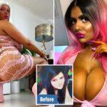 Британка превратила себя в живую Барби с десятым размером груди и разбогатела