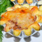 Картофельные корзиночки с мясом