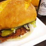Сэндвич с хрустящим куриным шницелем