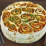 Пирог с капустой в лаваше