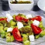 Салат из кабачков с сыром фета и помидорами