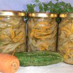 Салат на зиму «Огурцы с морковью по-корейски»