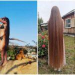 Жительница Иркутска не стригла волосы 23 года и показала результат