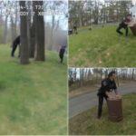 Американские полицейские 45 минут гонялись за поросенком