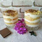 Десерт в стакане Serradura (опилки)