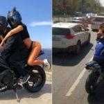 Мотоциклисты в Чебоксарах прокатили по улицам девушек в нижнем белье