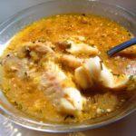 Рыбный суп с грибным молоком.