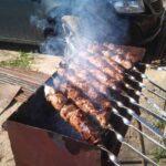 Печень говяжья на мангале