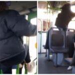 Пьяные школьницы устроили дебош в автобусе