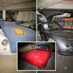 Редкие суперкары стоимостью £30 млн найдены пылящимися в заброшенном подземном гараже