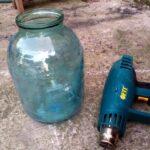 Защитный чехол для стеклянной банки из пластиковой бутылки