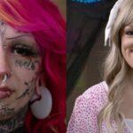 Девушка с татуировками на лице показала, как она выглядит без тату