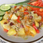 Рагу из овощей с фасолью и курицей