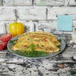 Сырные лепешки с зеленью и овощами